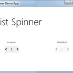 List Spinner JMetro light theme for Java (JavaFX). Inspired by Microsoft Fluent Design System.