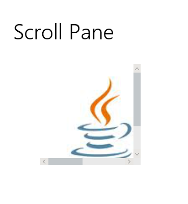Scroll Pane JMetro light theme, Java (JavaFX) UI theme, inspired by Fluent Design System (previously named 'Metro').