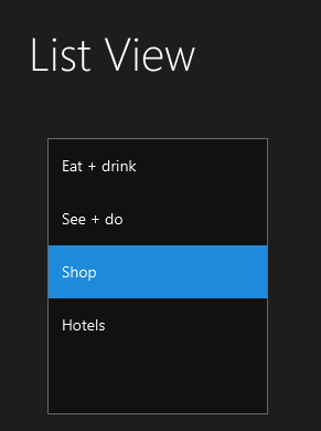 List View JMetro JavaFX ldark theme. JMetro 4.8 version.